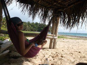 Natasha Chillin on Little Corn Island, Nicaragua