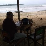 Blog writing in Bocas del Toro, Panama