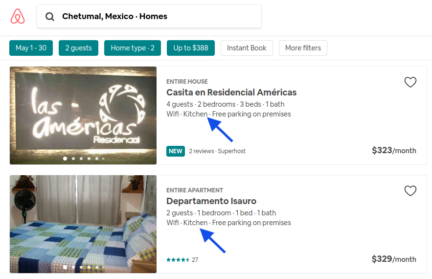 airbnb in chetumal