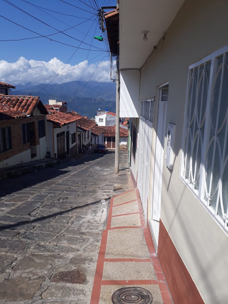 view from our Airbnb in Socorro, Colombia