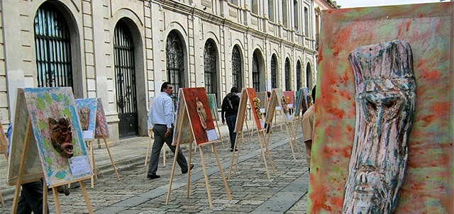 Art scene on Calle Alcala
