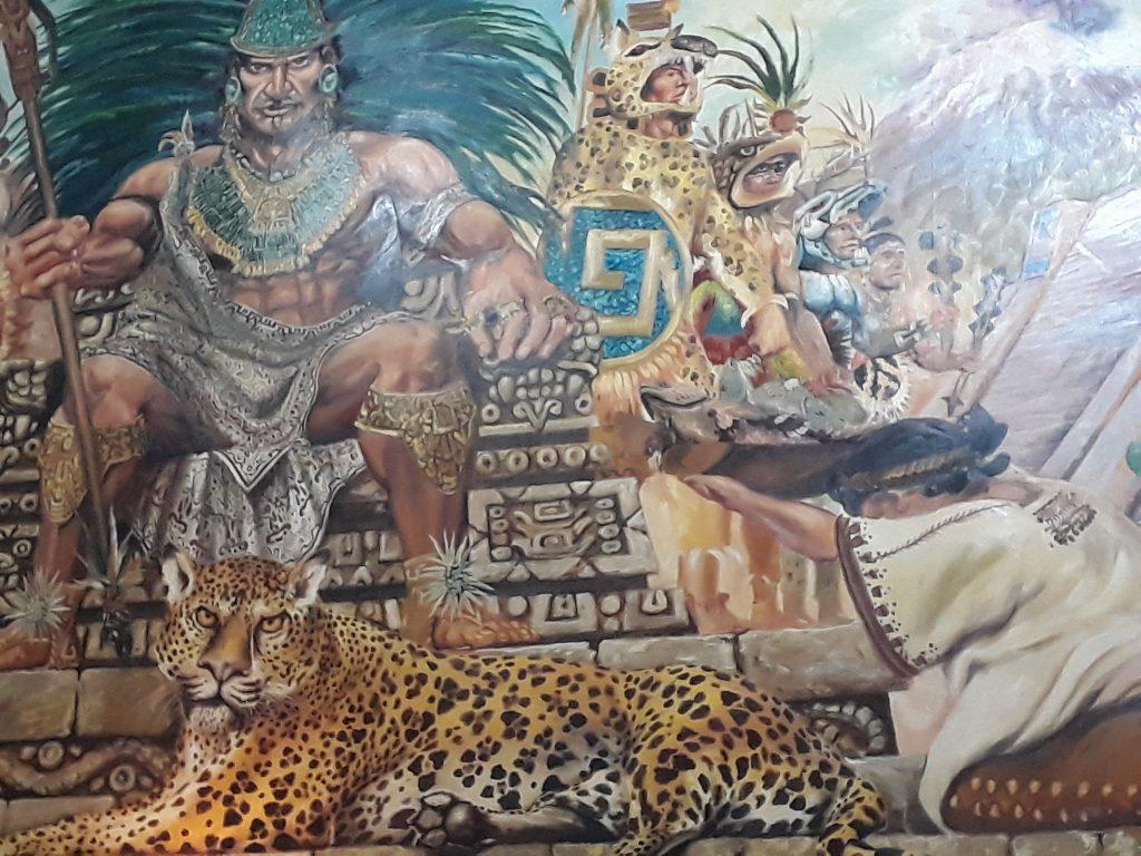 Mural in Casa de Mezcal