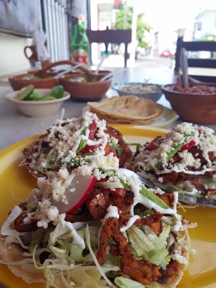 Tostados and Pozole at Las Cazuelas