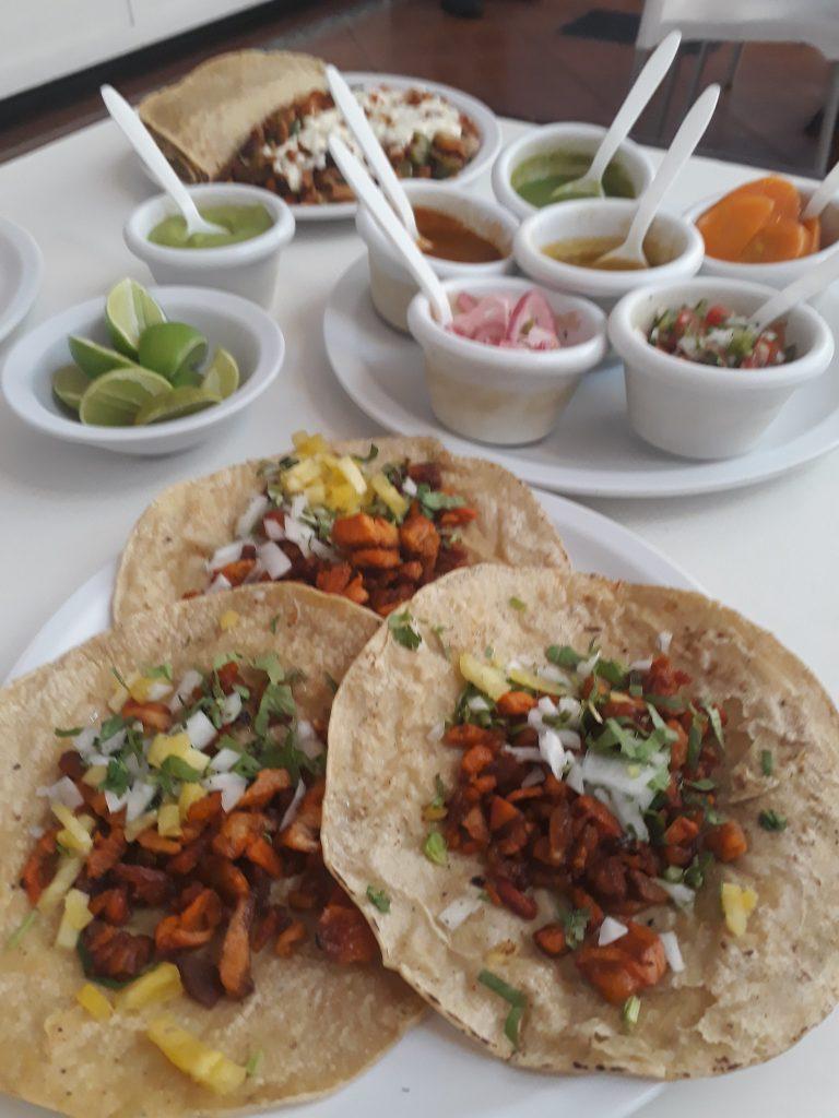 Tacos al pastor at Tacos ROY.