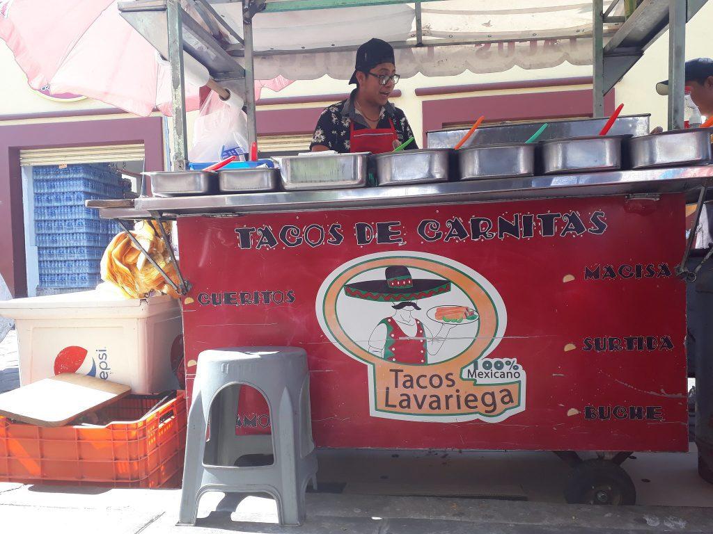 Carnita Taco stall Taco Lavariega