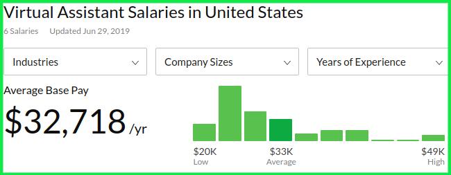 Remote VA Average Salary