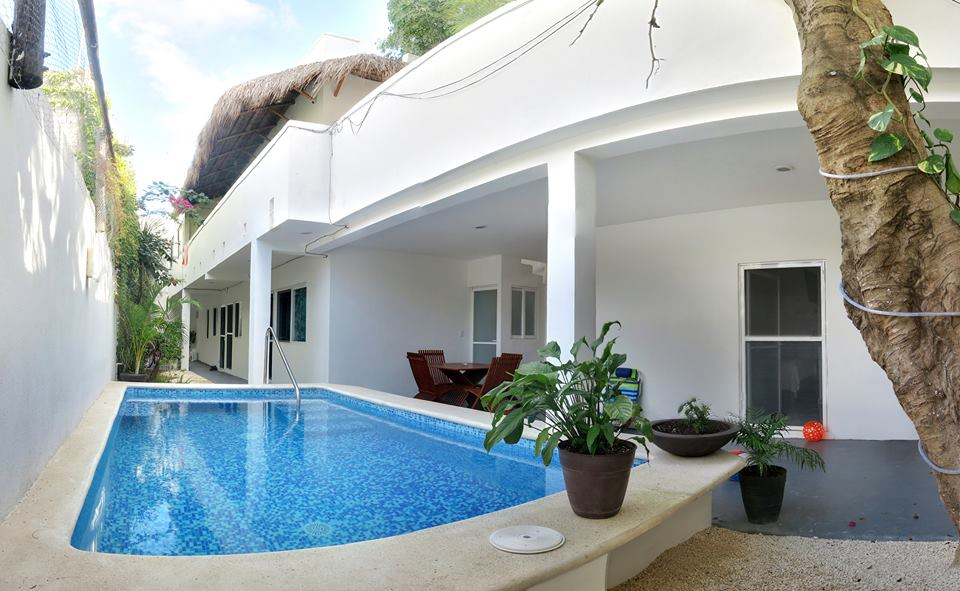 Airbnb in Playa del Carmen with a pool